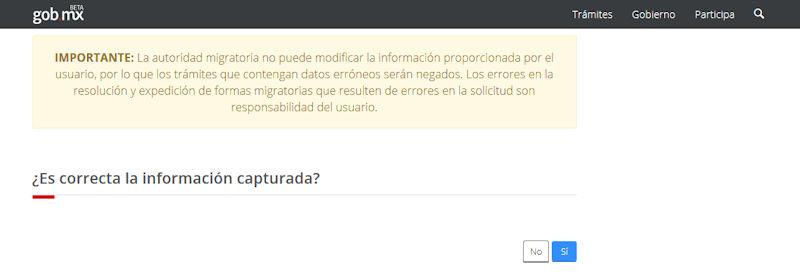 Online FMM form